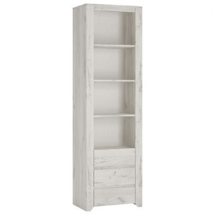 Angel Tall Narrow 3 Drawer Bookcase.